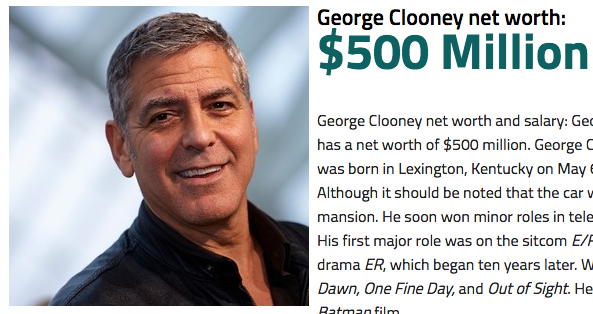 George Clooney Doubles His Net Worth Overnight After ...